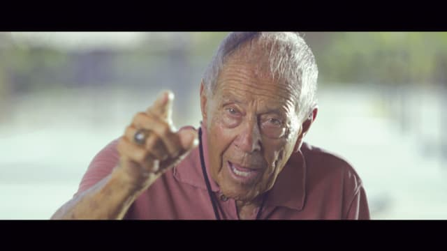 "Nick Bollettieri in Jason Kohn's documentary ""Love Means Zero."" Courtesy Showtime."