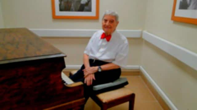 Nick Cestaro, 89, regularly entertains his fellow residents at the Preakness Healthcare Center with skilled and lively piano music.