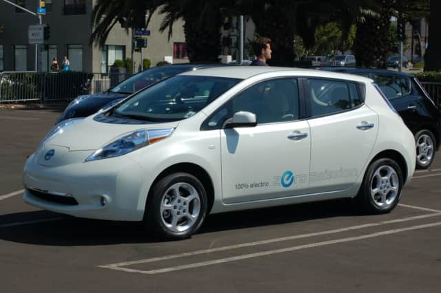 Nissan Leaf electric cars.