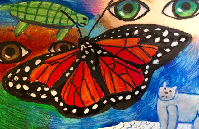 Nitya Malhotra's beautiful reworked rendering of her original entry in the Endangered Species Youth Art Contest illustrates her perseverance, determination and hard work.