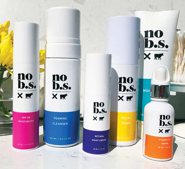 Options from the No B.S product line. Photograph courtesy No B.S. Beauty.