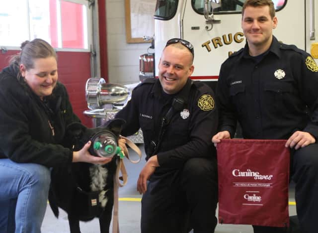 The Canine Company in Wilton, Conn. donated 80 pet oxygen masks to area first responders.