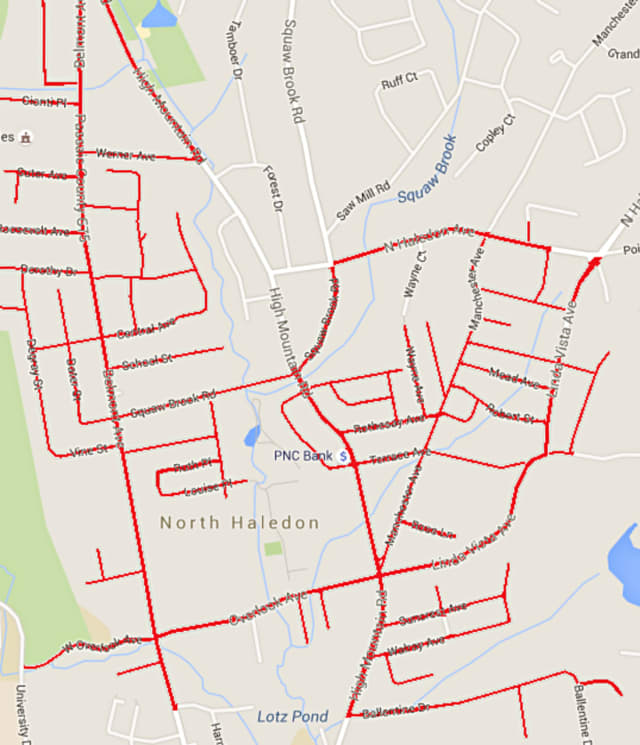 PSE&G will continue to update gas pipes and mains on many of North Haledon's roads, as highlighted here.