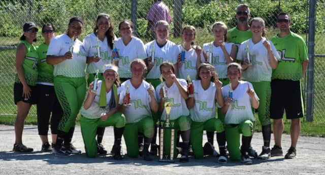The Tucci Elite 14U Girls Softball Team from Norwalk caps off a successful season by winning the Fairfield County Fastpitch Softball Tournament this past weekend. See story for IDs.