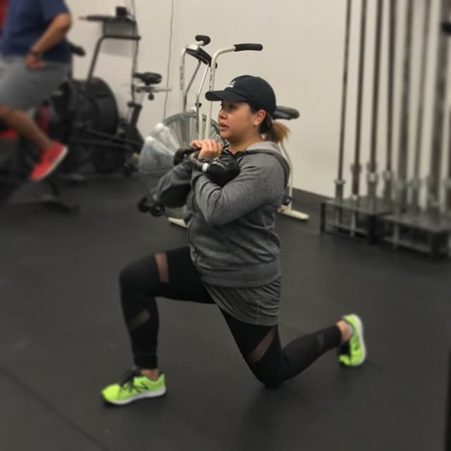Stephanie Tabao exercises at OPEX Pascack Valley.