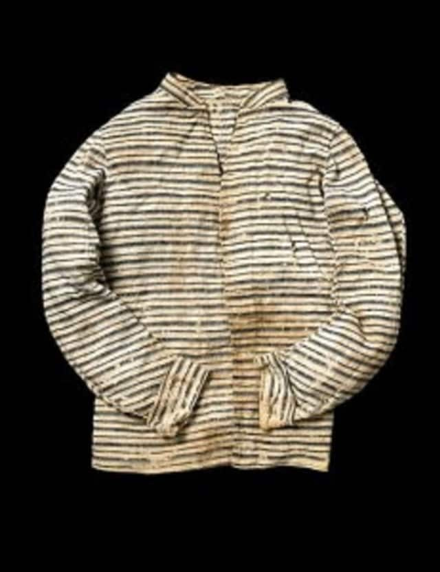 """A shirt worn by Obadiah Mead, shot by a loyalist """"cowboy,"""" connects visitors with the American Revolution."""