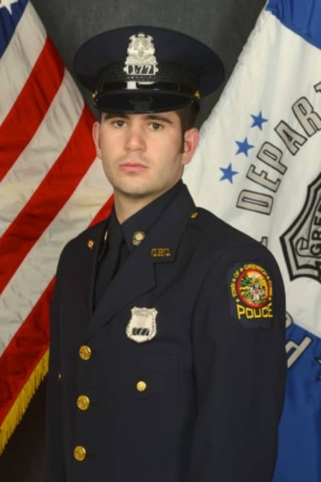 Andrew Greco was named the Greenwich Officer of the Month by Police Chief James Heavey.