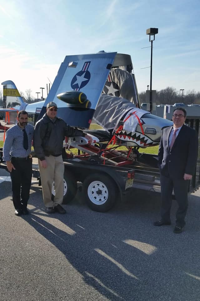Woody Saland donated an airplane to Bergen Community College's aviation fleet.