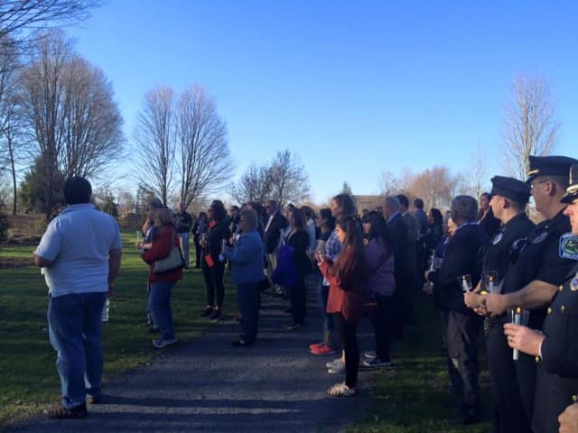 Families and authorities turn out for the Orange County Crime Victims' Vigil on Thursday.