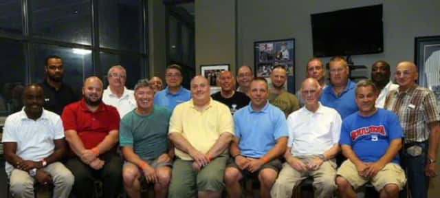 Members of the Orangetown Auxiliary Police recently enjoyed an outing to a Rockland Boulders game.