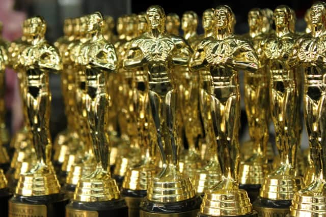 Academy Awards (Oscars) trophies.