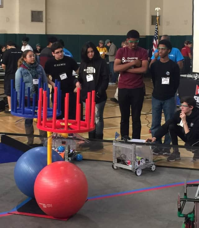 "Ossining's robotics team won third place and a ""Motivate"" award at a tech competition"