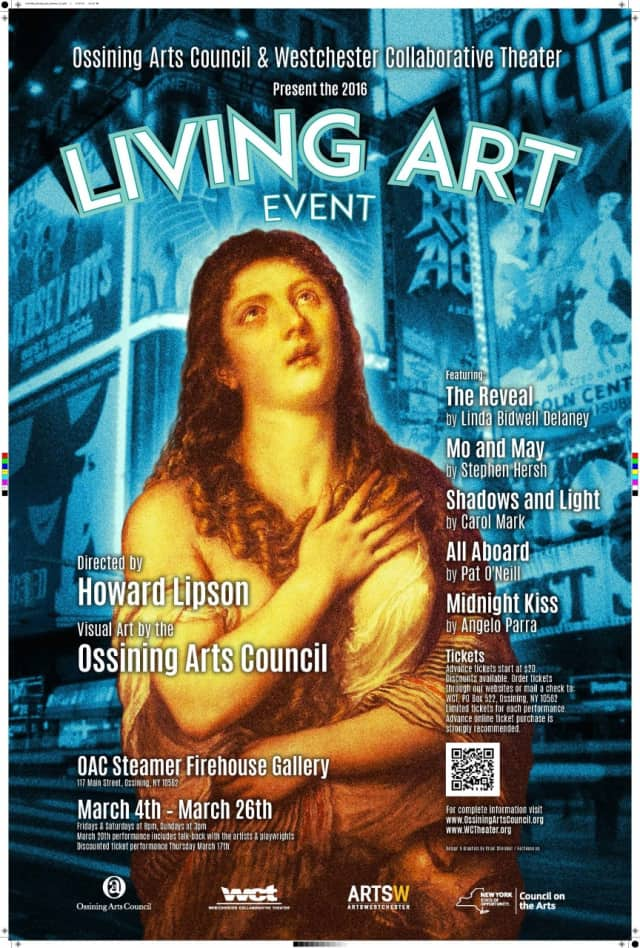The Ossining Arts Council has begun its annual Living Art Event, running until March 26.