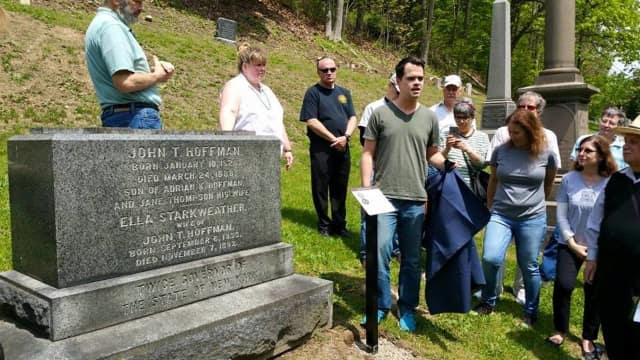 Senator David Carlucci recently announced he had obtained a $20,000 grant to help create the Dale Cemetery sHeritage Trail.