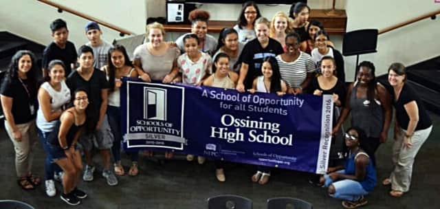 "Ossining High School has been recognized as a ""School of Opportunity."""