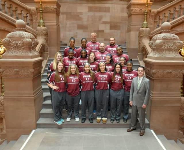 The Ossining Pride Women's Varsity Basketball Team.