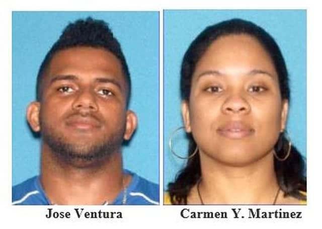 Jose Ventura, 34, and Carmen Y. Martinez, 31, of Newark.