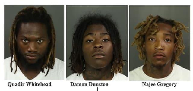 Quadir Whitehead, 27, Damon Dunston, 19, and Najee Gregory, 22.