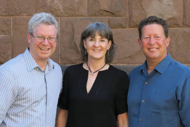 The HooplaHa team, left to right: Laurence Sheinman, Missy Godfrey, and Rob Hess.