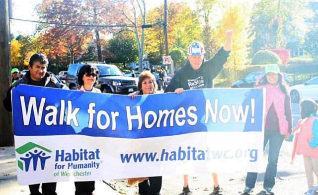 Over 200 people came out for Habitat for Humanity's fundraising walk this week.