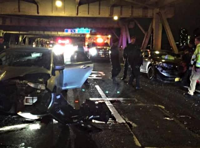 Aftermath of morning GWB crash