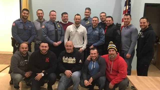 Scruffy members of New Milford PBA Local 83.