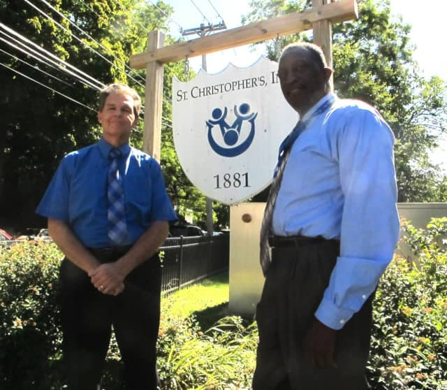 Robert Maher, CEO of St. Christopher's with Chief Operating Officer Horace Turnbull.