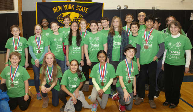 The Pleasantville Science Olympiad Team earned a seventh-place finish at the recent New York State Science Olympiad competition.