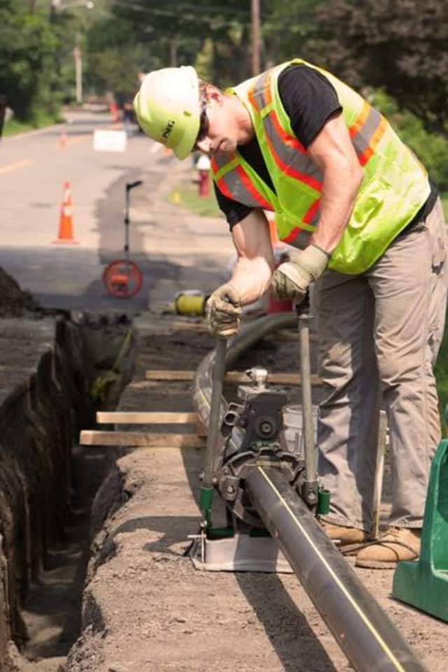 PSE&G is upgrading an underground power transmission line in River Edge that is 40 years old.