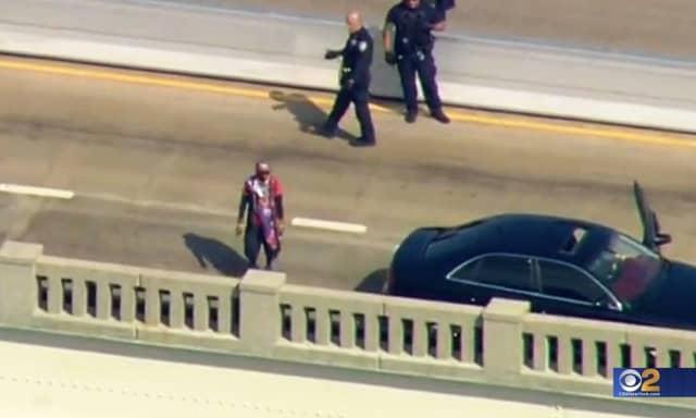 CBS2 New York's news chopper captured the unfolding drama.