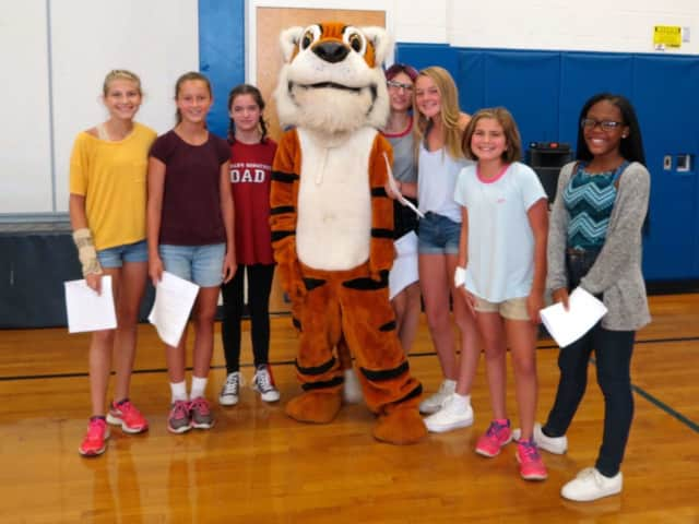 Seventh- and eighth-grade student representatives at Croton-Harmon's Pierre Van Cortlandt Middle School helped kick off the year's Advisory program during a special assembly on Sept. 2.