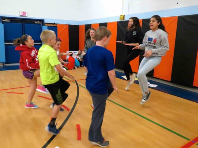 Pierre Van Corltandt Middle School eighth-grade students in Croton-on- Hudson shared their knowledge of topics ranging from nutrition to stress and fitness with younger students at Carrie E. Tompkins Elementary School.