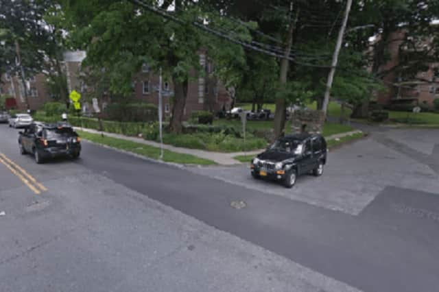 The intersection of Palmer and Sunnybrook roads in Yonkers was the scene of a fatal car crash Thursday night.
