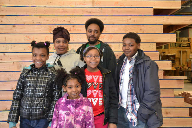 The Pamphile family of Bridgeport will attend the dedication of their new home June 4.