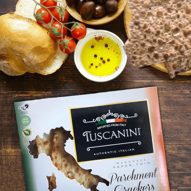 Tuscanini Parchment Crackers offer a taste of Italian sophistication. Courtesy Tuscanini Parchment Crackers.