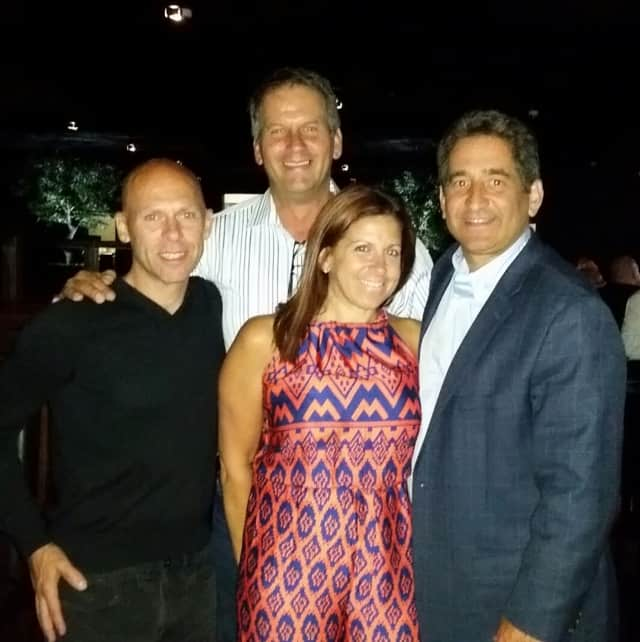 Pictured from left to right. Co-Owner David Madison, Event co-ordinator Lisa Marino Ceccon, Councilman Joel Brizzi and in back, Anthony Ceccon-construction coordinator.