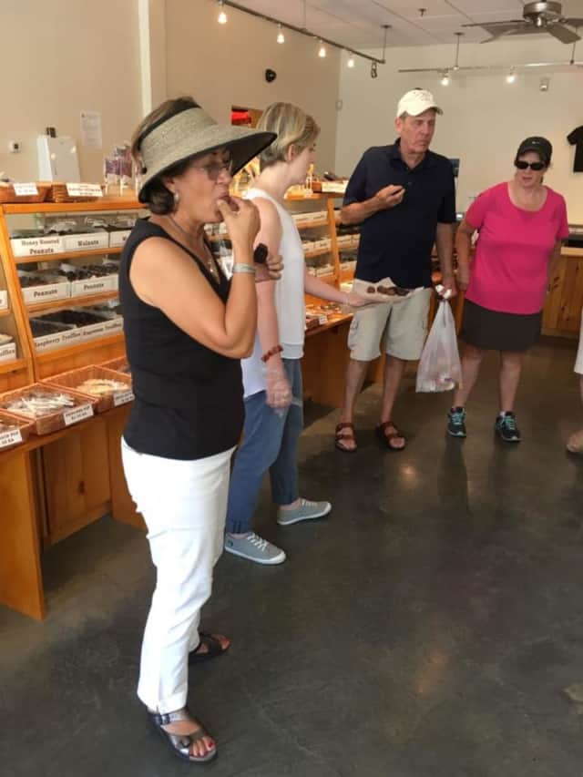 Participants on a July Rhinebeck culinary crawl sampled chocolates at Krause's.