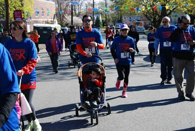 Participants will be out on the roads this Sunday, as they were for Radburn's 5K in 2014, shown here.