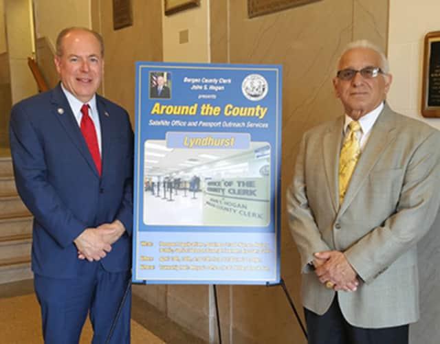 Bergen County Clerk John S. Hogan, left, and Lyndhurst Mayor Robert B. Giangeruso.