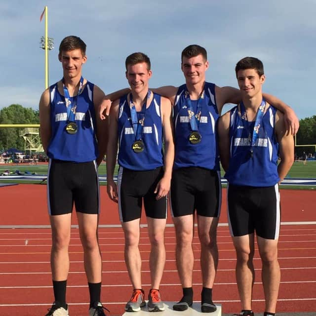 The Pearl River High School boys 4x400 relay team won the state championship earlier this month.