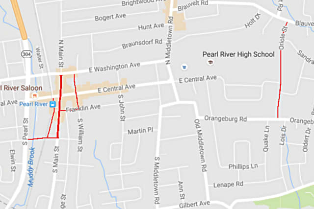 Paving work begins Tuesday on these six streets.
