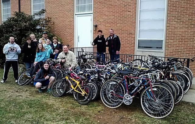 A Pedals 4 Progress collection event in Pennsylvania gathered over 70 bicycles for the group.