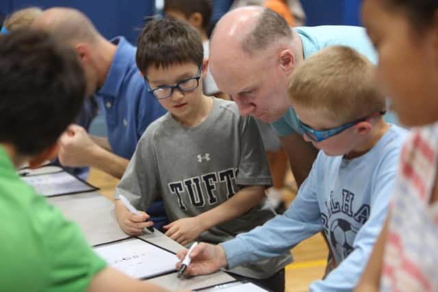 Students, teachers and parents all participated in a district-wide math night at Siwanoy Elementary School in Pelham on Monday night.