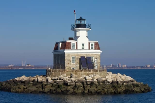A boat sank Sunday near the Penfield Reef Lighthouse off the coast of Fairfield.