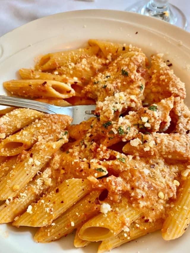 Penne pasta dish from Mamma Rosa Ristorante