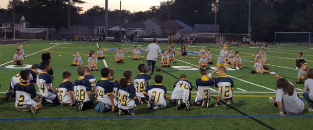 Saddle Brook kids attend a pep rally in September 2015.