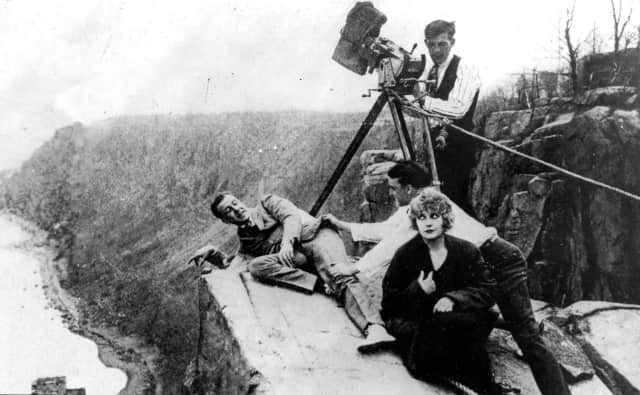 """Cliffhanger Point,"" immortalized by Pearl White, the actress famous for playing the eponymous Pauline in 1914's Perils of Pauline, a classic serial that was shot, like so many others of its day, along the cliffs at Fort Lee."