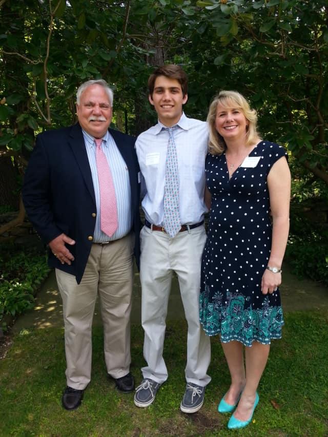 Peter Saverine, director of philanthropy at STAR, with Lee Gardella of Darien and his mother, Beth Gardella.