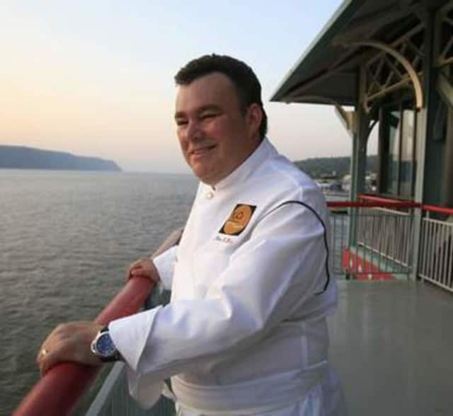 Chef Peter X. Kelly at Yonkers Xaviars On The Hudson.