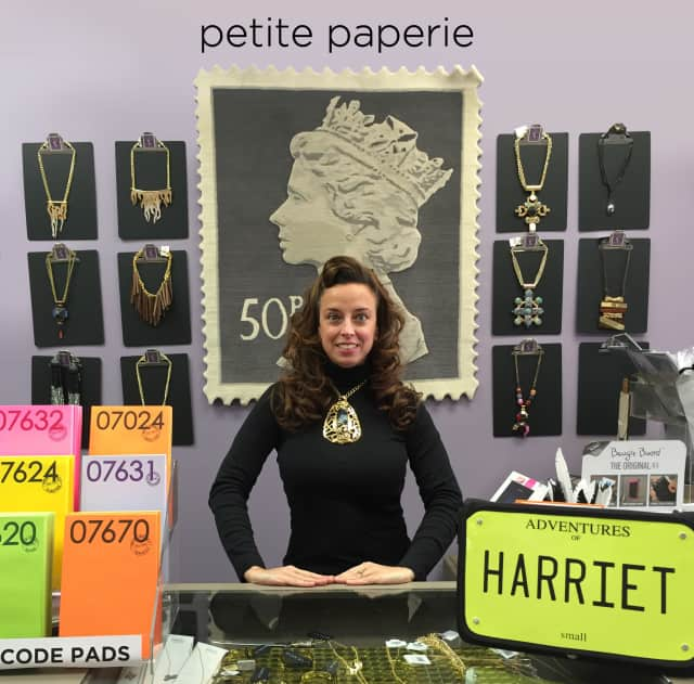 Serina Canciglia, owner of Tenafly's Petite Paperie,